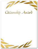 Gold Foil Embossed Citizenship Award from Cool School Studios.