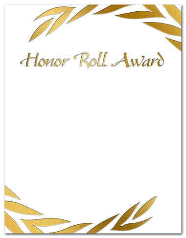 Gold Foil Embossed Honor Roll Award from Cool School Studios.