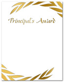 Gold Foil Embossed Principal's Award from Cool School Studios.