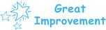 Image shows imprint of GREAT IMPROVEMENT Stamper (35162).