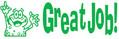 Image shows imprint of GREAT JOB! Stamper (35155).