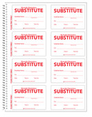 Shown is a page from the Custom Substitute ID Secure-D Duplicate Log-in Book. Cool School Studios Item #04005.