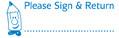 Image shows imprint of PLEASE SIGN & RETURN stamp (35154).