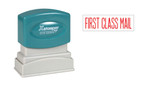 Image of single-color FIRST CLASS MAIL XStamper (1129) from Cool School Studios.
