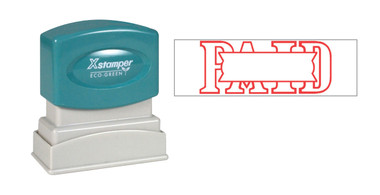 Image of single-color PAID XStamper (1201) from Cool School Studios.