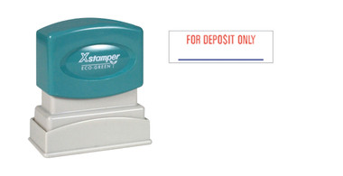 Image of two-color FOR DEPOSIT ONLY XStamper (2035) from Cool School Studios.