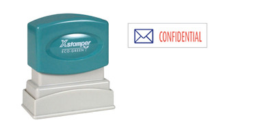 Image of two-color CONFIDENTIAL XStamper (2034) from Cool School Studios.