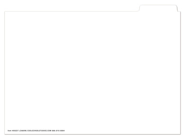 Image shows CA60WB White Blank Insert (to be used with CA60 Cumulative Folder).
