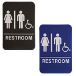 "Shown is 6"" x 9"" Unisex ADA Compliant Sign from Cool School Studios (ADA103_203)."