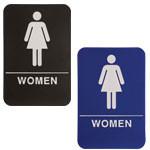 """Shown is 6"""" x 9"""" Women ADA Compliant Sign from Cool School Studios (ADA106_206)."""
