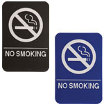"Shown is 6"" x 9"" No Smoking ADA Compliant Sign from Cool School Studios (ADA107_207)."