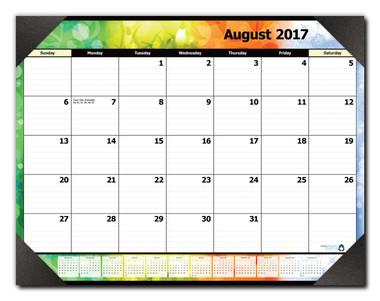 17-Month Desk Calendar, SKU #06017-1718