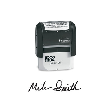 View of 2000 Plus Small Self-Inking Signature Stamp (Printer 20) from Cool School Studios.