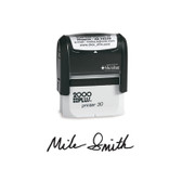 View of 2000 Plus Medium Self-Inking Signature Stamp (Printer 30) from Cool School Studios.