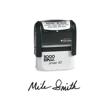 View of 2000 Plus Medium Self-Inking Signature Stamp (Printer 30) from Cool School Studios.
