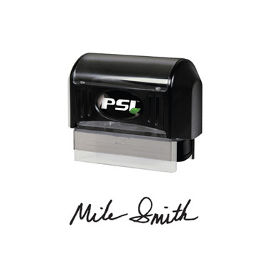 View of Cool School Studios PSI Large Premium Self-Inker Signature Stamp (PSI 2264) (EFSIGLGPSI).