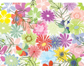 Image shows a folded view of the File-'N Style Folder with Floral Pattern.