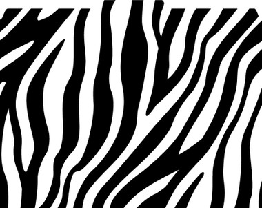 Image shows a zebra print pattern in black and white on a 1/3 cut tab file folder.