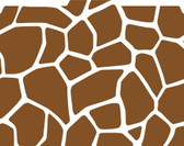 Image shows a 1/3 cut tab file folder with a giraffe print pattern in brown and white.