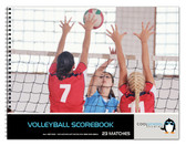 Shown is the cover of the 23 match Volleyball Scorebook (Cool School Studios Item #BR 502).