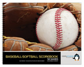 Shown is the cover of the 50 game Enlarged Format Baseball/Softball Scorebook from Cool School Studios (BR 554).