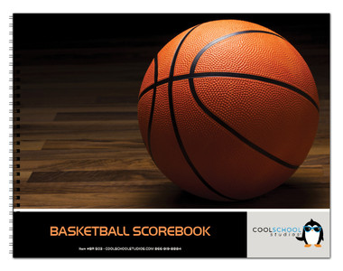 Shown is the cover of BR 503 Basketball Scorebook from Cool School Studios.