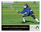 Image shows cover of Women's Lacrosse Scorebook (BR 575) from Cool School Studios.