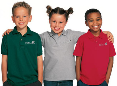 Shown are the Youth BAW Xtreme-Tek Polos (Cool School Studios BAW-XT48Y).