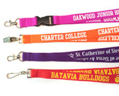 Shown are the imprinted polyester lanyards from Cool School Studios (4012).