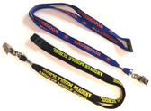 Shown are shoelace imprinted lanyards (4014) from Cool School Studios.