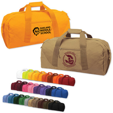 Shown is the Cool School Studios (#08007) Brand GearTM DallasTM Duffel Bag in various color choices.