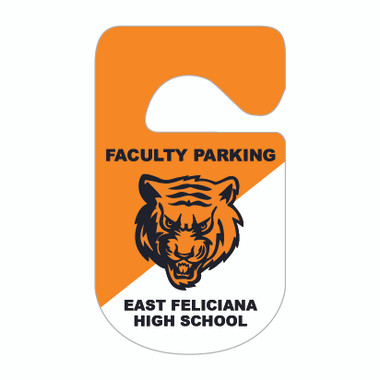 Images shows KC-10H_2, 2-color Security Plastic Parking Hang Tag from Cool School Studios.