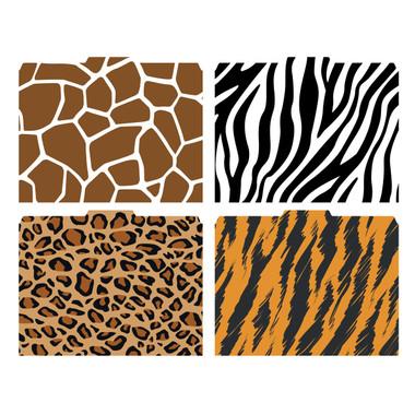 Animal Print File-\u0027N Style™ Folder Set - Package of 4 Designs - Total 12 Folders