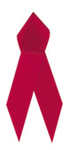 Shown is satin awareness ribbon in red (Cool School Studios 09000).