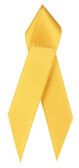 Shown is satin awareness ribbon in yellow (Cool School Studios 09001).
