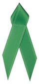 Shown is satin awareness ribbon in green (Cool School Studios 09004).