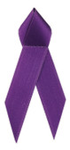Shown is satin awareness ribbon in purple (Cool School Studios 09005).