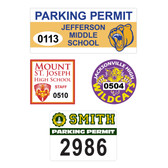 Cool School Studios has a variety of parking decals for every budget. Shown are four styles.