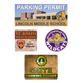Image of four parking decals from Cool School Studios.