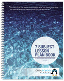Hard Cover option for the 7-Subject Teacher's Lesson Plan Book (05038) from Cool School Studios.