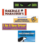 Shown are various bumper and spirit decals (Cool School Studios 08015).
