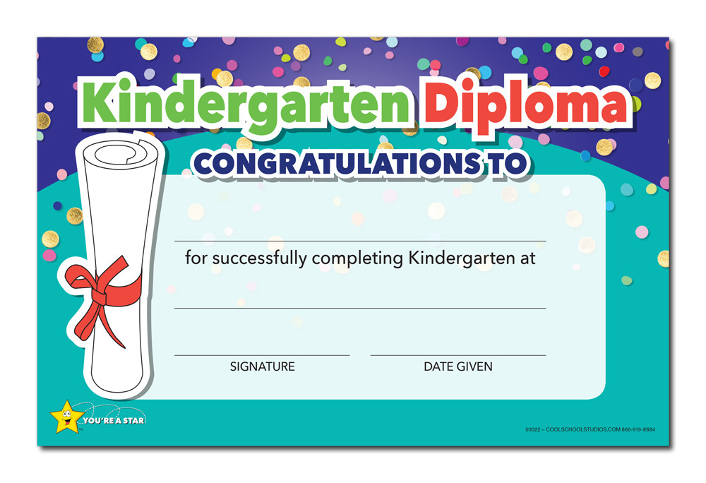 shown is the youre a star kindergarten diploma cool school studios 03022