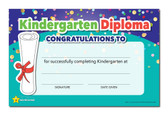 Shown is the YOU'RE A STAR Kindergarten Diploma (Cool School Studios 03022).