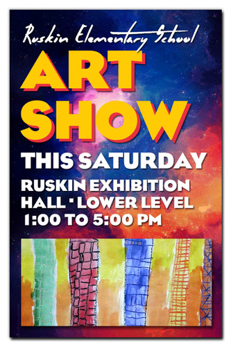 """Shown is an 11"""" x 17"""" custom full-color poster (Cool School Studios 08076)."""