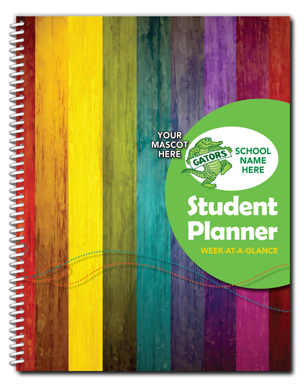 full color elementary dated student planner cool school studios