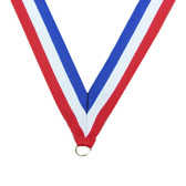 Red, White & Blue Medal Neck Ribbon - Priced Each Starting at 12