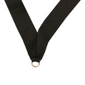 Black Medal Neck Ribbon - Priced Each Starting at 12