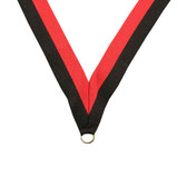 Red and Black Medal Neck Ribbon - Priced Each Starting at 12