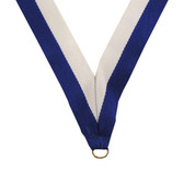 Blue and White Medal Neck Ribbon - Priced Each Starting at 12