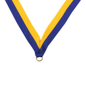 Blue and Gold Medal Neck Ribbon - Priced Each Starting at 12